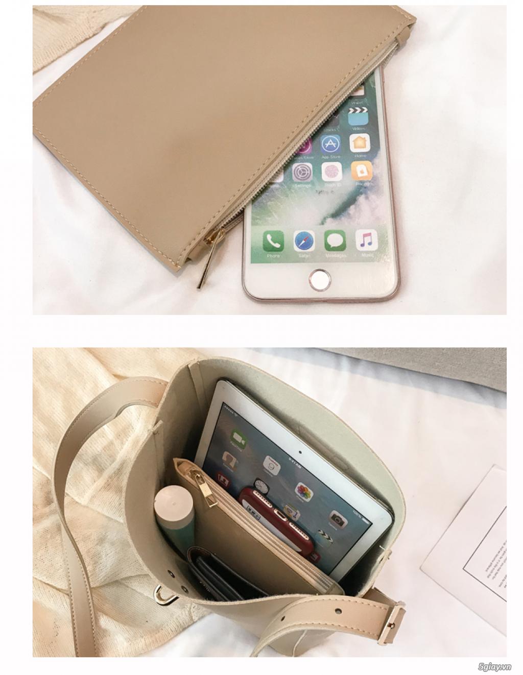 Túi xách Hàn Quốc phiên bản đơn giản túi xách giá rẻ túi xách nữ - 7