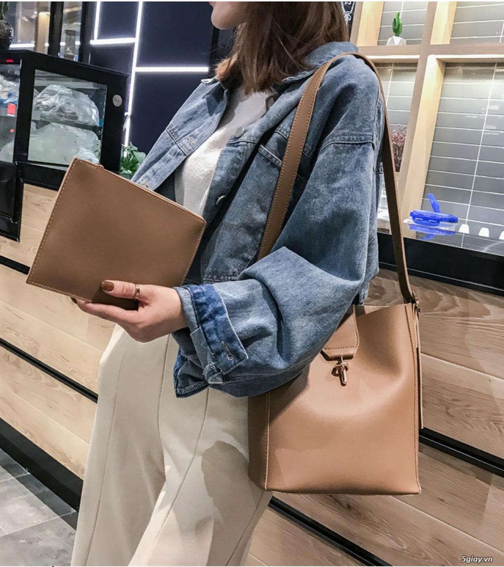 Túi xách Hàn Quốc phiên bản đơn giản túi xách giá rẻ túi xách nữ - 3