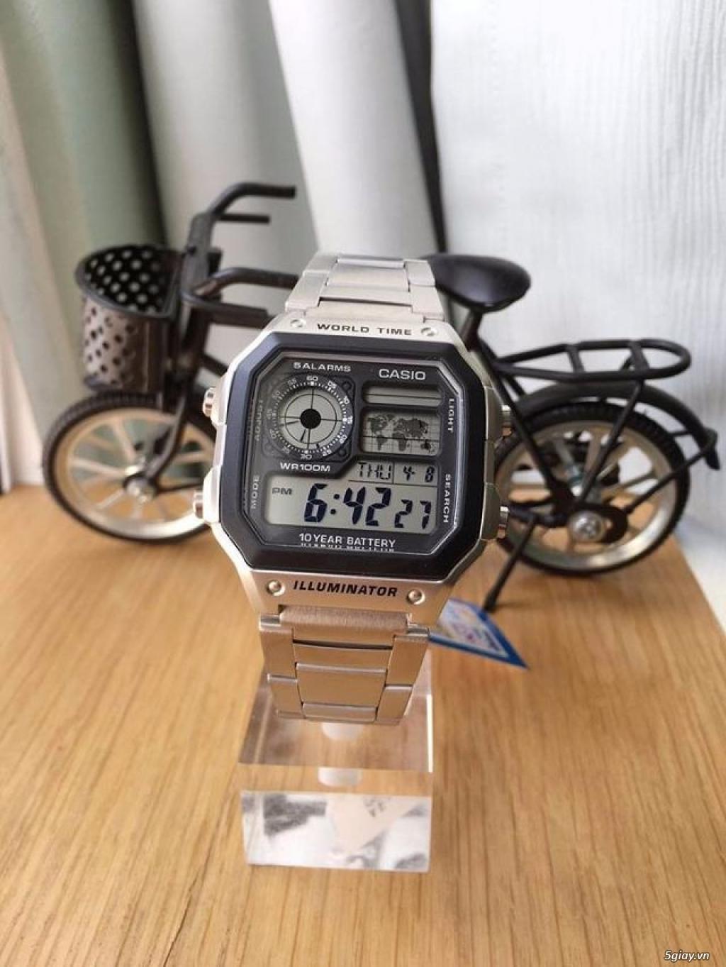 Đồng hồ chính hãng của Mỹ dư xài máy pin Quazt , máy tự động Automatic - 24