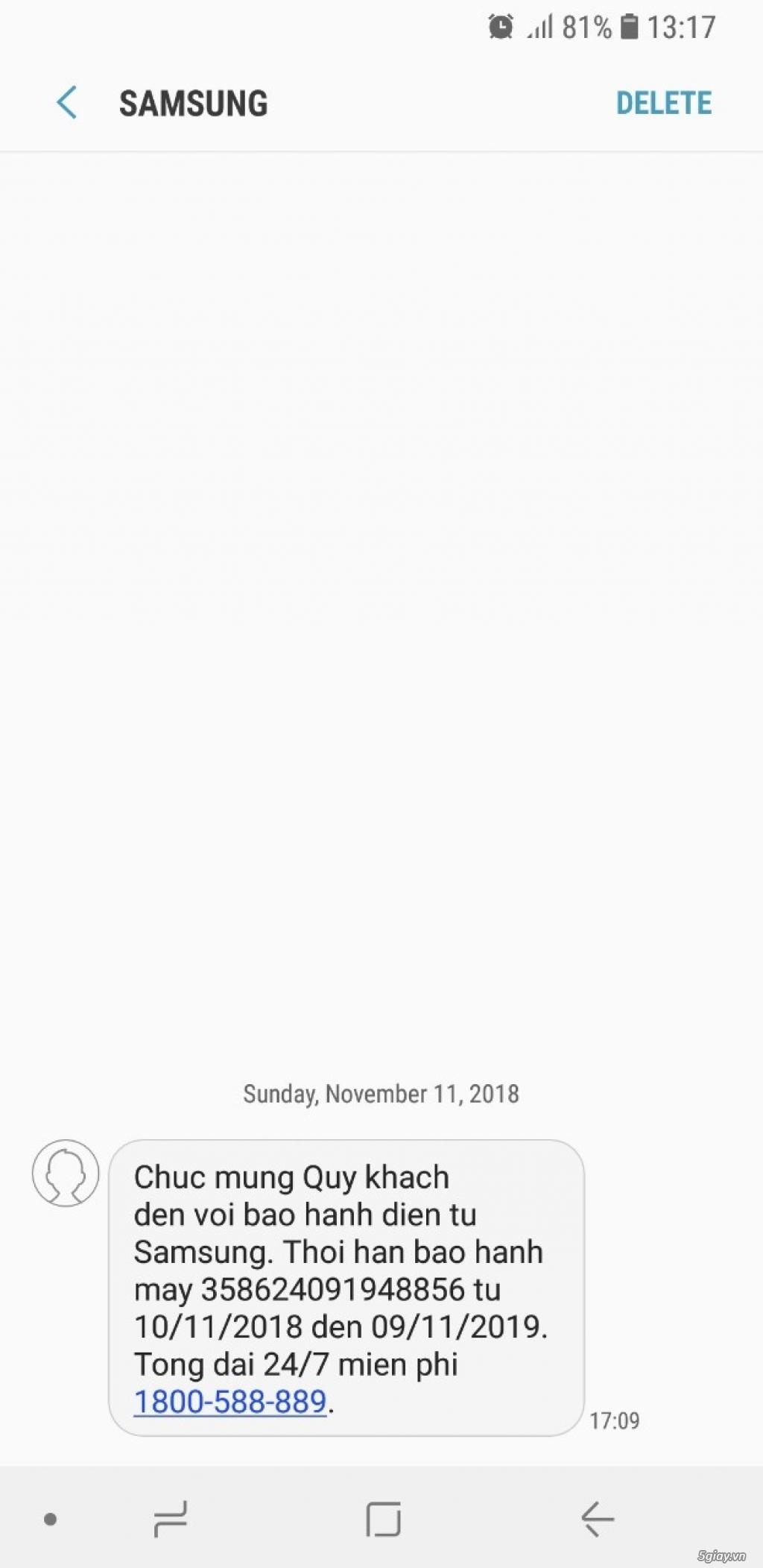 Bán Samsung Note 8 2sim zin áp suất 8tr3