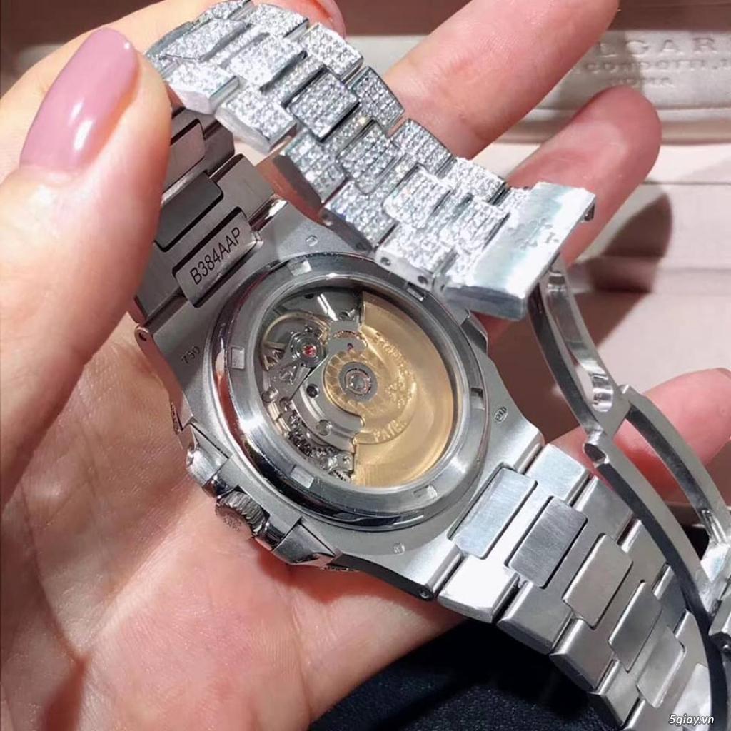 đồng hồ Nautilus full đá size 40mm máy automatic thuỵ sĩ - 1