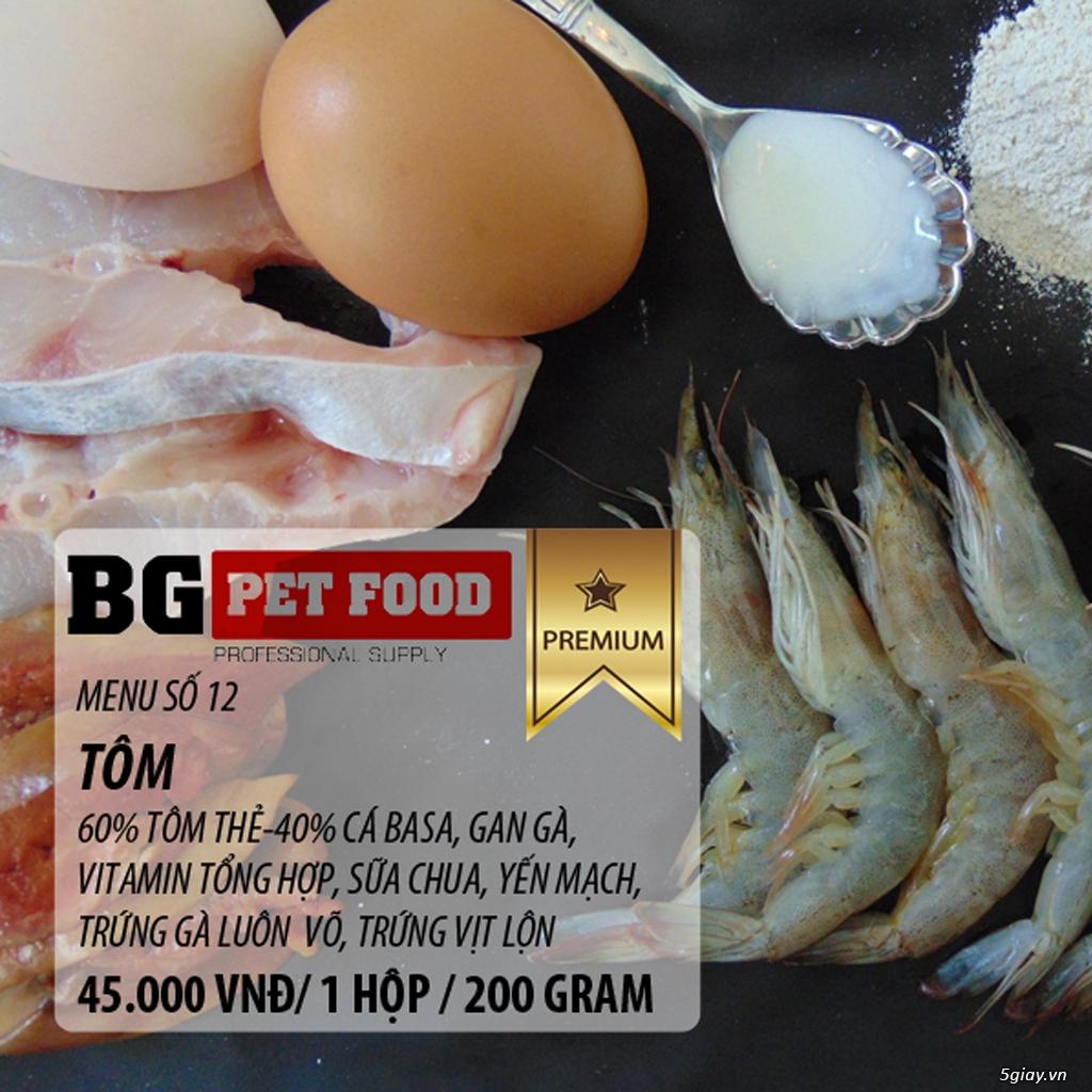 THỨC ĂN TƯƠI CHO CHÓ - MÈO - CÁO BG PET FOOD - 6