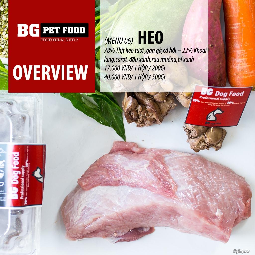 THỨC ĂN TƯƠI CHO CHÓ - MÈO - CÁO BG PET FOOD - 15