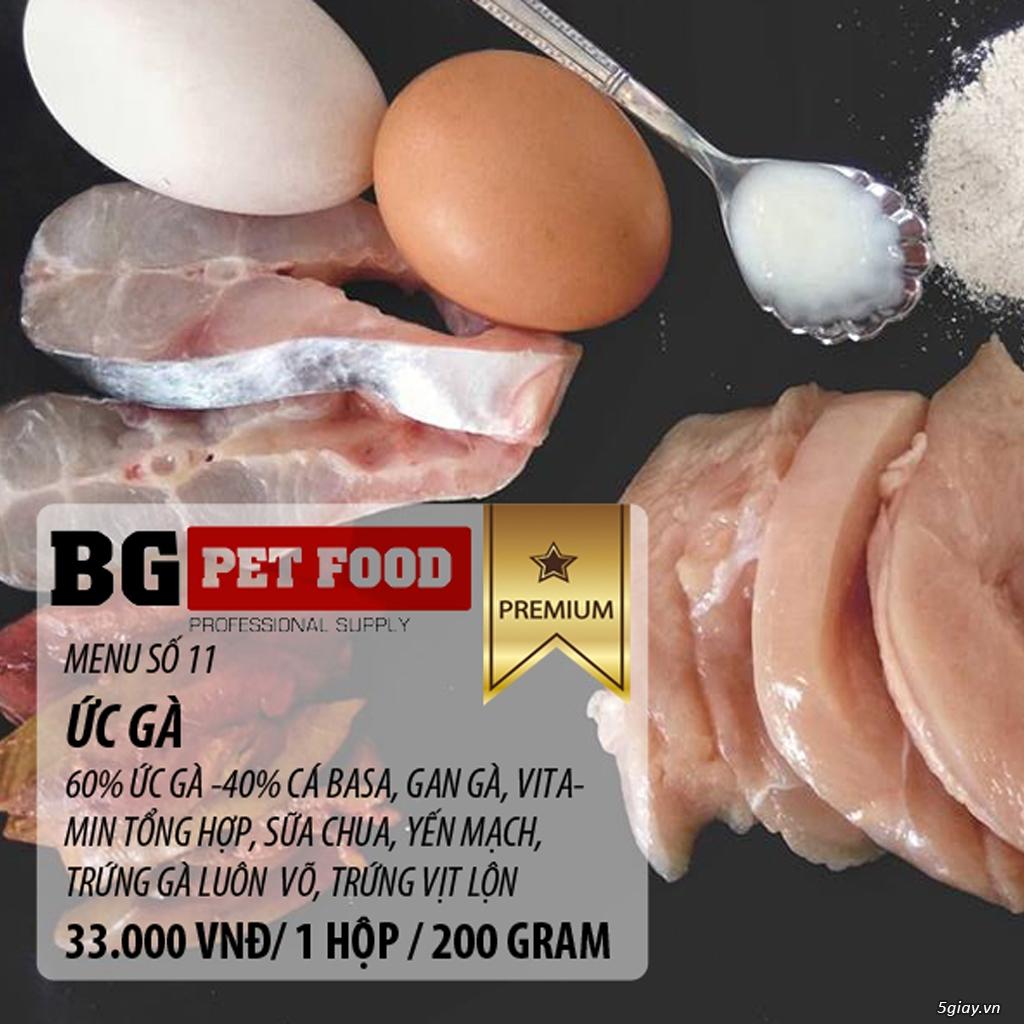 THỨC ĂN TƯƠI CHO CHÓ - MÈO - CÁO BG PET FOOD