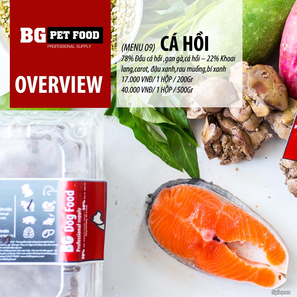 THỨC ĂN TƯƠI CHO CHÓ - MÈO - CÁO BG PET FOOD - 10