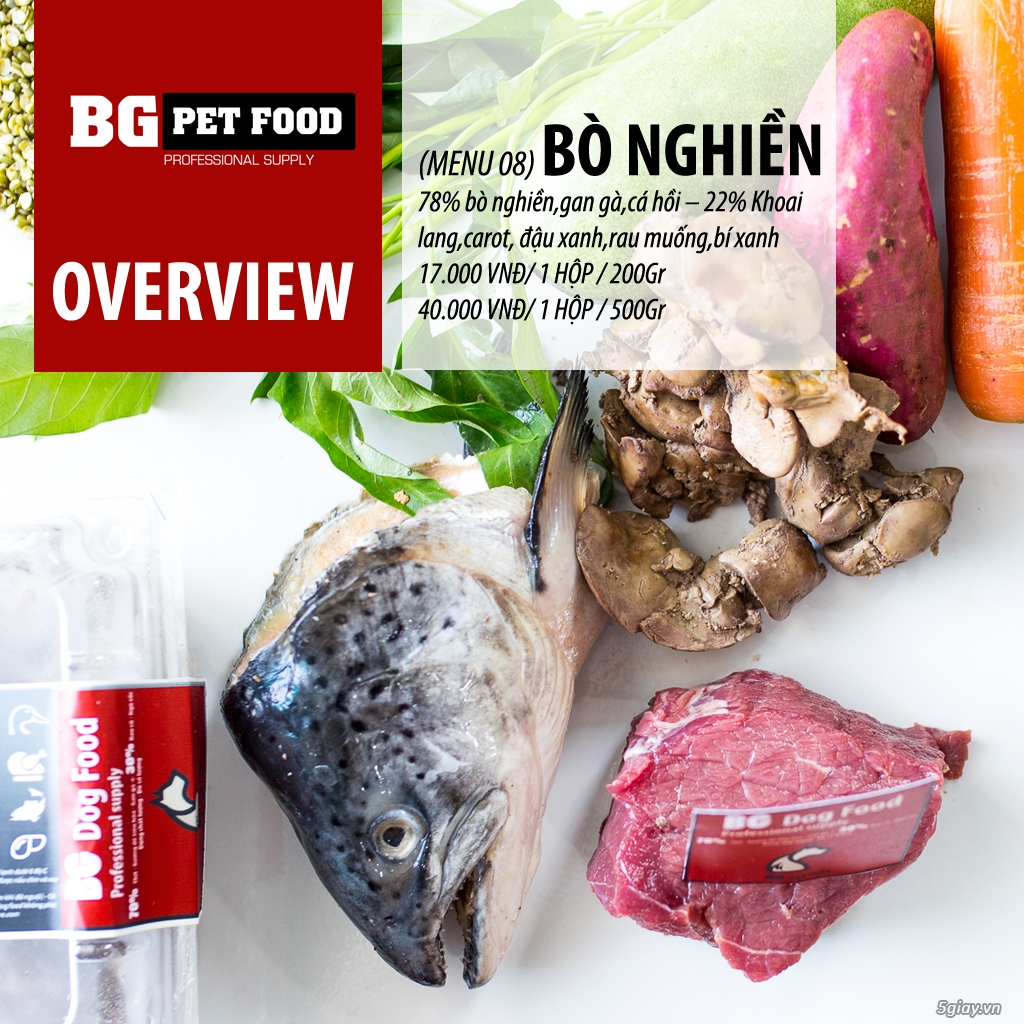 THỨC ĂN TƯƠI CHO CHÓ - MÈO - CÁO BG PET FOOD - 11