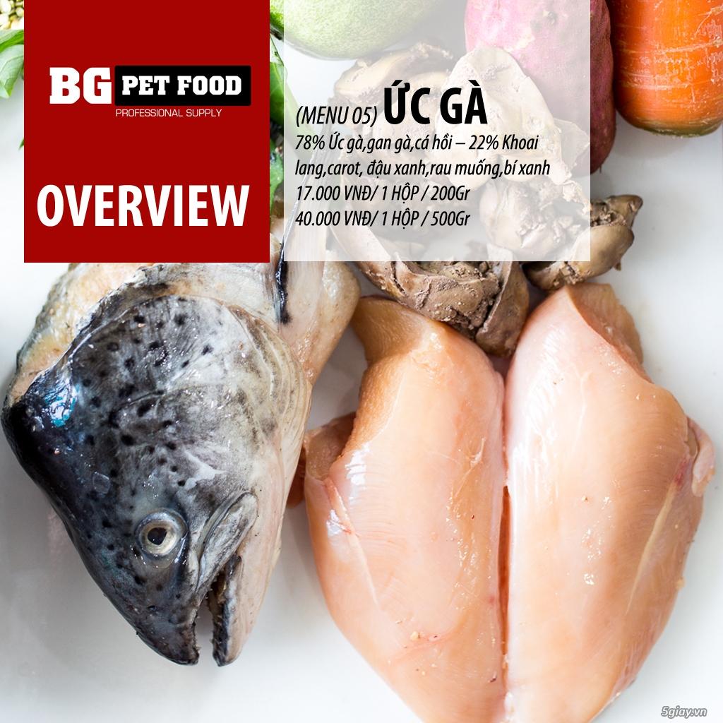 THỨC ĂN TƯƠI CHO CHÓ - MÈO - CÁO BG PET FOOD - 13