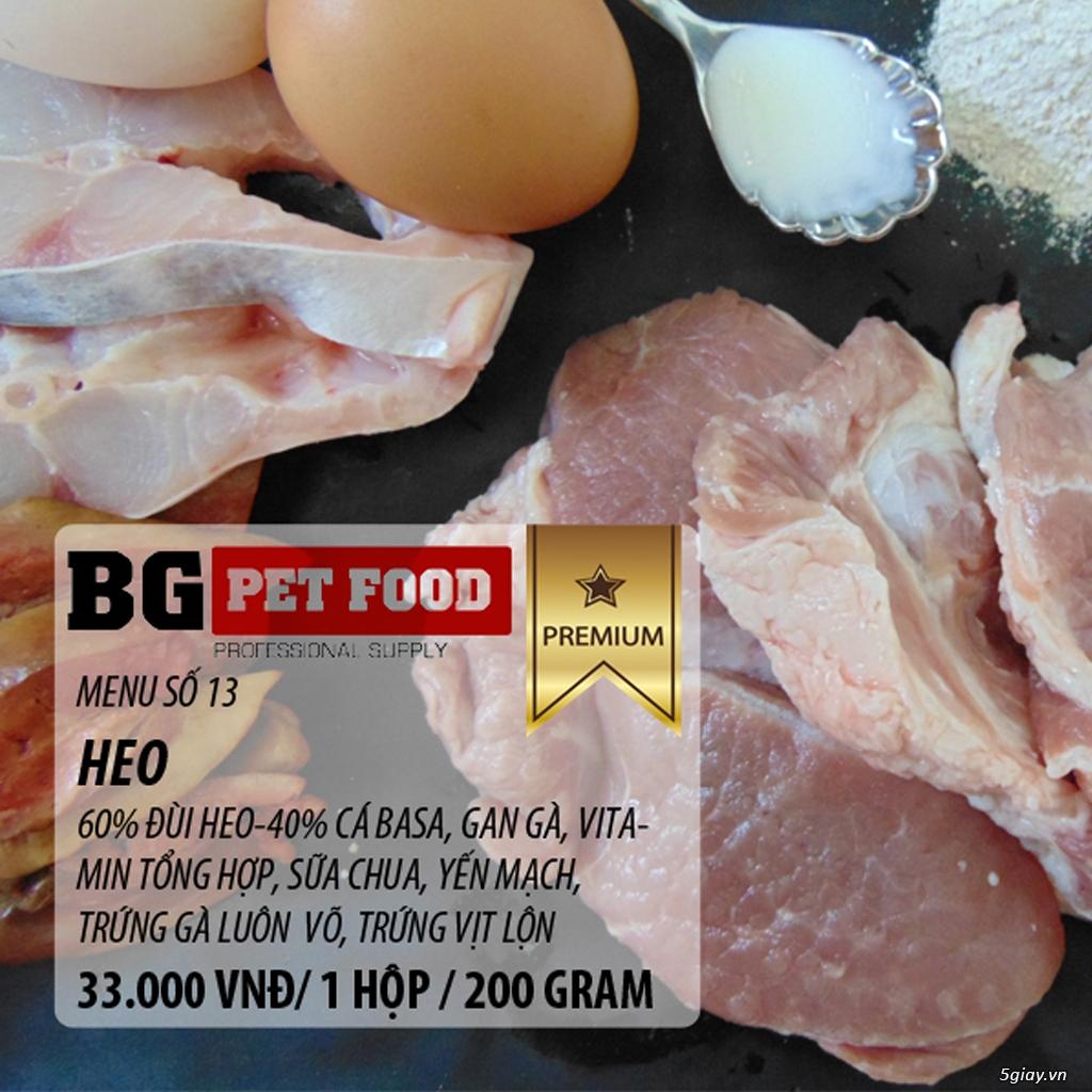THỨC ĂN TƯƠI CHO CHÓ - MÈO - CÁO BG PET FOOD - 5