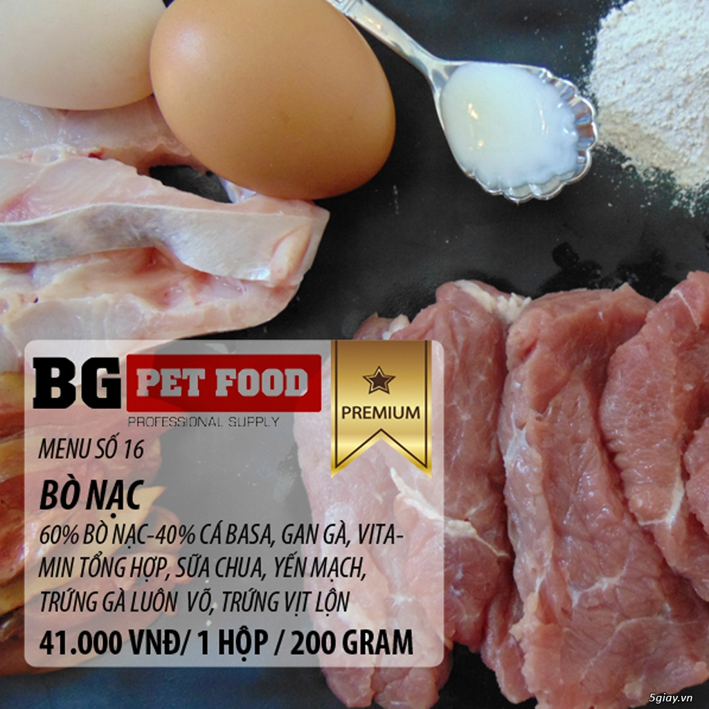 THỨC ĂN TƯƠI CHO CHÓ - MÈO - CÁO BG PET FOOD - 3