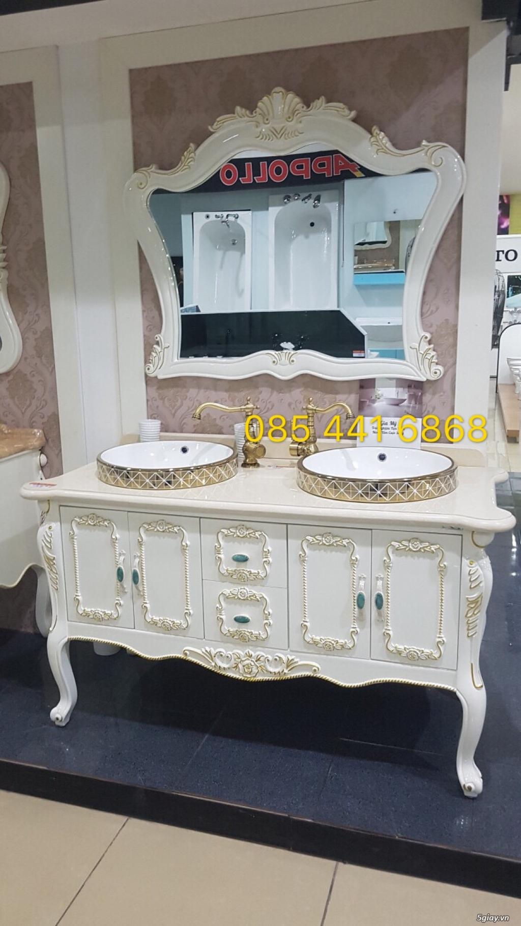 Bán tủ chậu lavabo tân cổ điển, hiện đại, tủ chậu mặt đá phòng tắm - 33