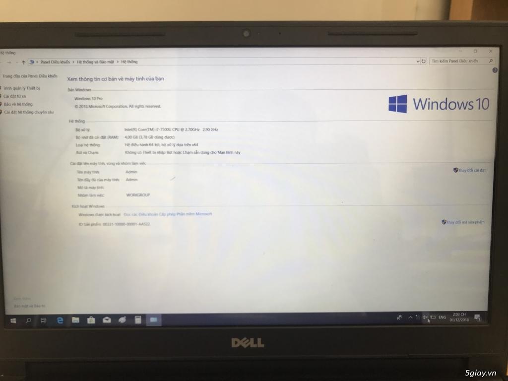 Laptop Dell Vostro 3568 i7  - Chính hãng Việt Nam