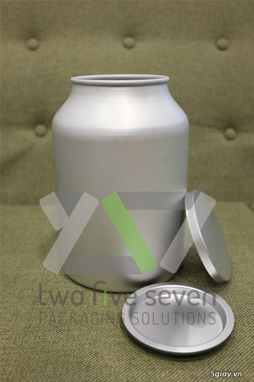 Cung cấp Vỏ lon nhôm 1kg (3 lít) dùng đựng bột, hóa chất - 2