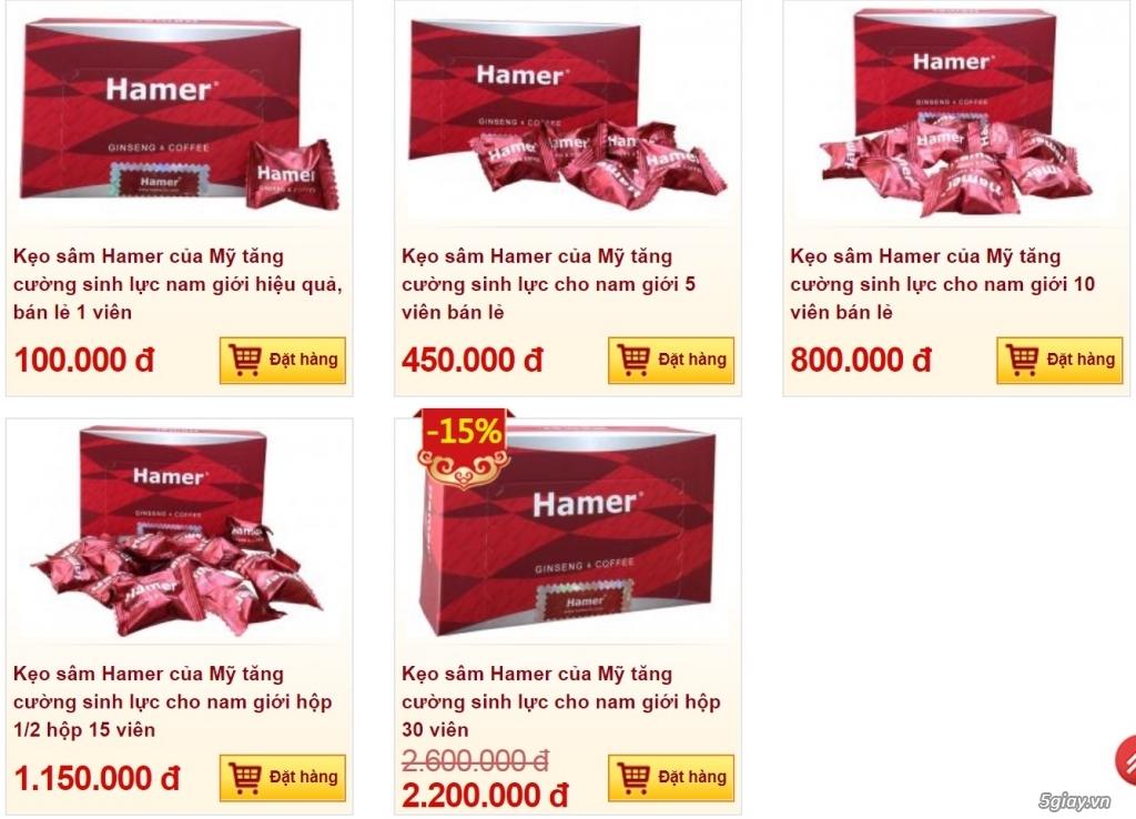 Hamer: Hỗ trợ rối loạn cương dương,yếu sinh lý, xuất tinh sớm, bất lực - 1