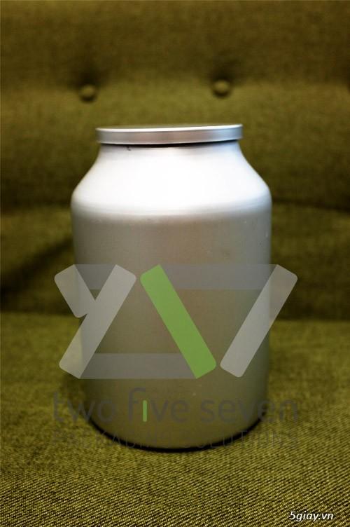 Cung cấp Vỏ lon nhôm 1kg (3 lít) dùng đựng bột, hóa chất - 4