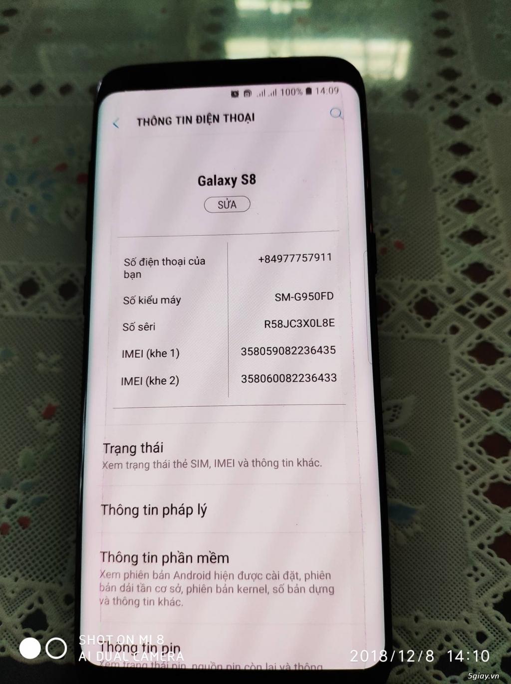 Giá sốc Samsung S8 64Gb hàng Samsung VN,nguyên hộp, chính hãng VNA - 6