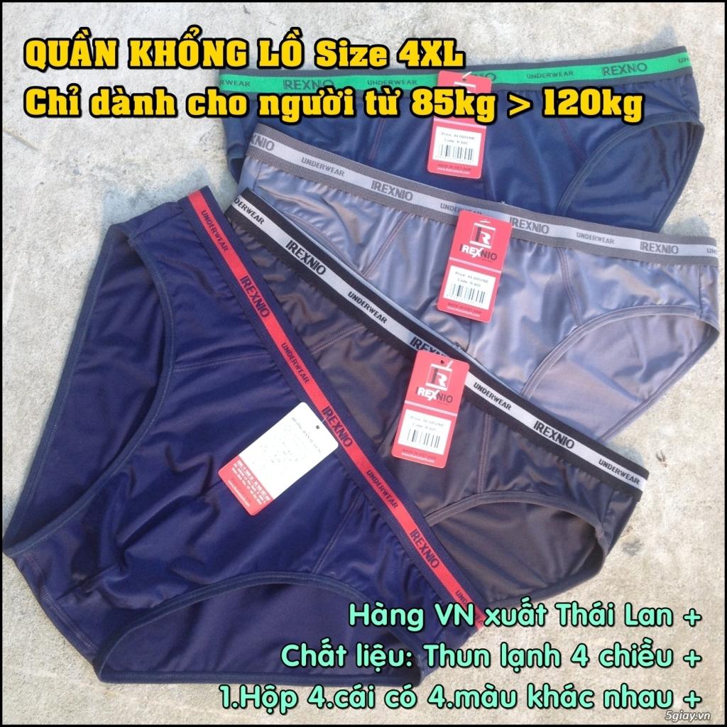 Quần lót nam BigSize (size lớn 4XL) cho người từ 85kg đến 120kg - 2