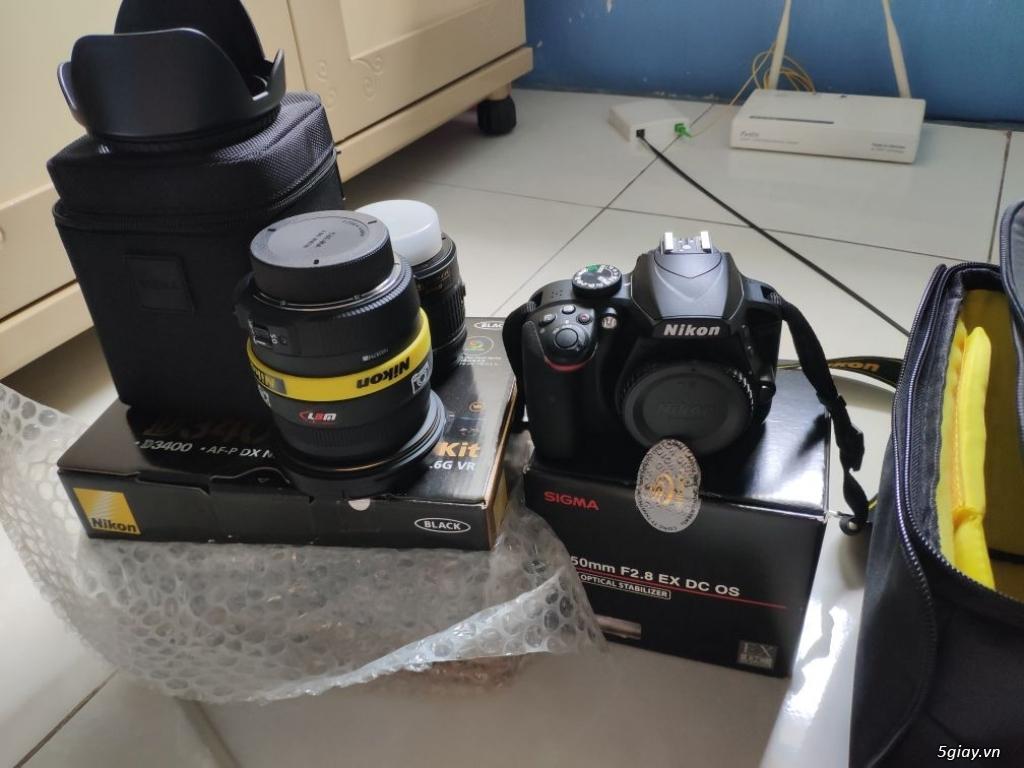 Nikon D3400 VIC 2kshot ( lens kit + Sigma 17-50) - 3