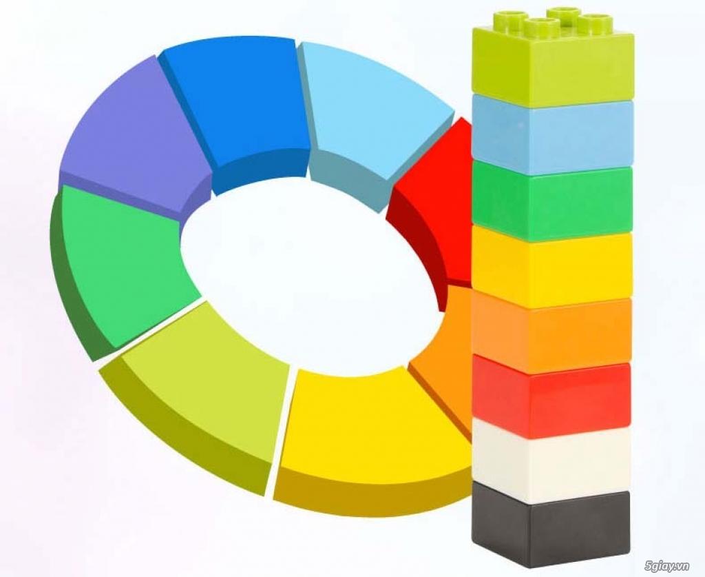 Bộ block Lego lắp ráp nhà 140 chi tiết (size lớn) hàng nhập - 11