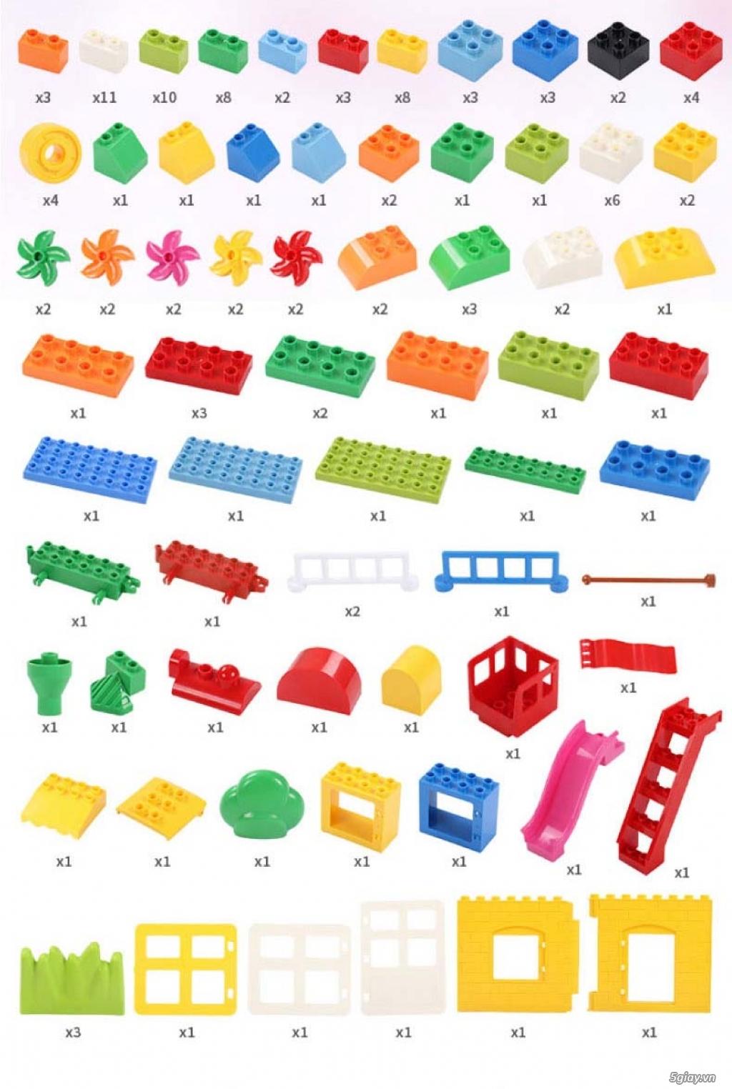Bộ block Lego lắp ráp nhà 140 chi tiết (size lớn) hàng nhập - 2