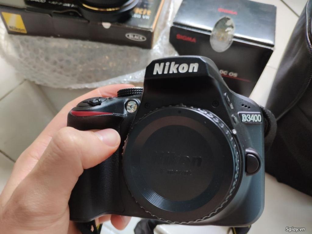 Nikon D3400 VIC 2kshot ( lens kit + Sigma 17-50) - 1