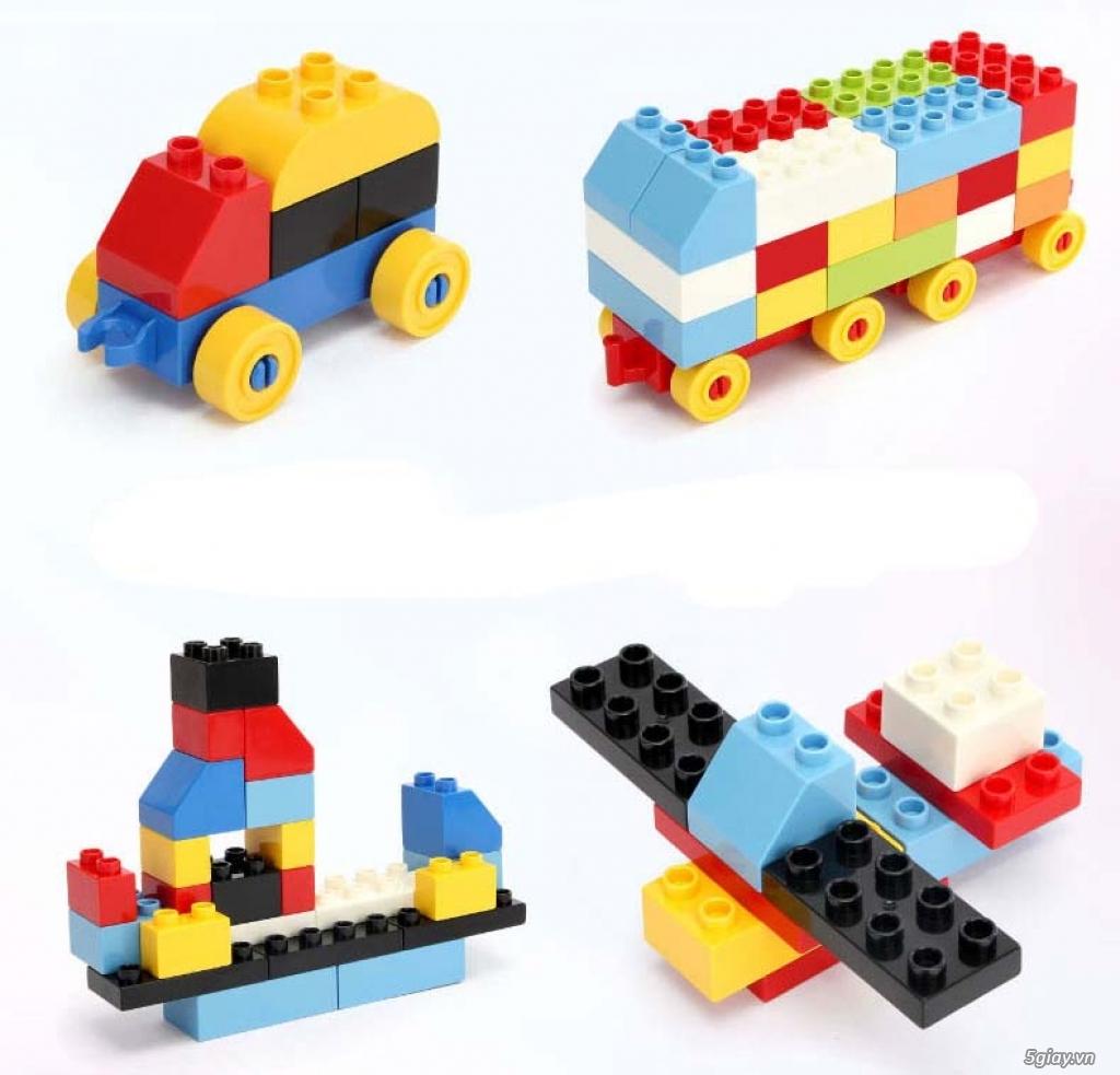 Bộ block Lego lắp ráp nhà 140 chi tiết (size lớn) hàng nhập - 7