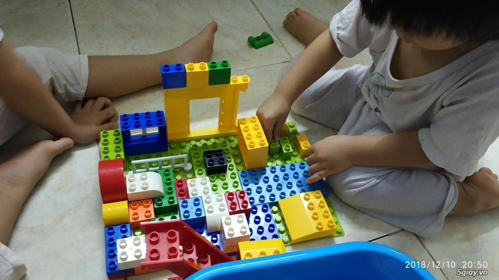 Bộ block Lego lắp ráp nhà 140 chi tiết (size lớn) hàng nhập - 14