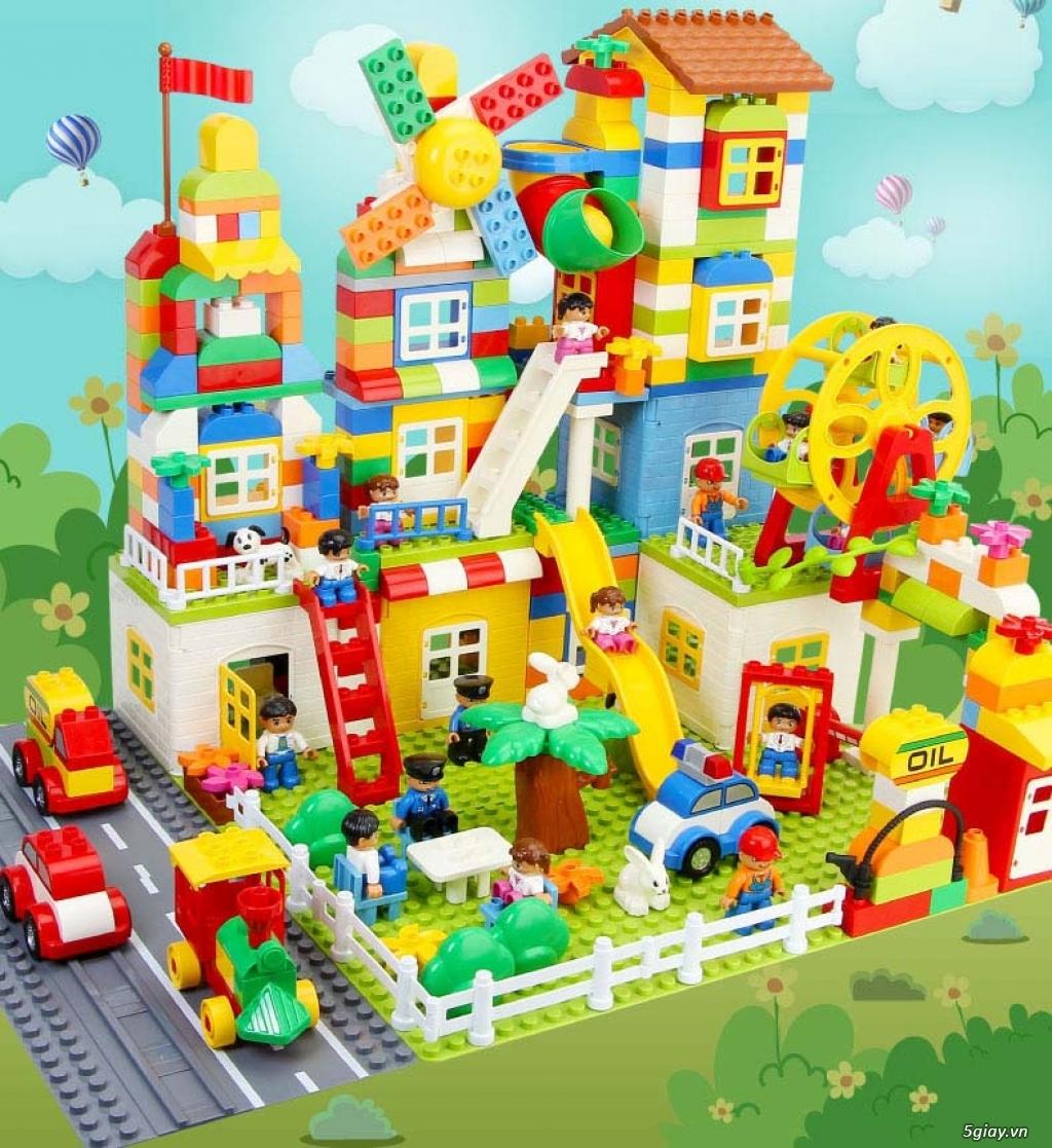 Bộ block Lego lắp ráp nhà 140 chi tiết (size lớn) hàng nhập - 4