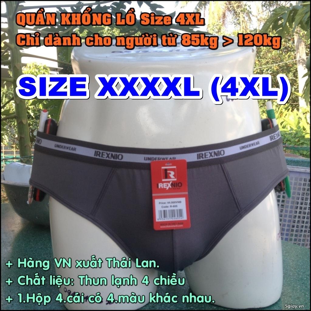 Quần lót nam BigSize (size lớn 4XL) cho người từ 85kg đến 120kg - 1