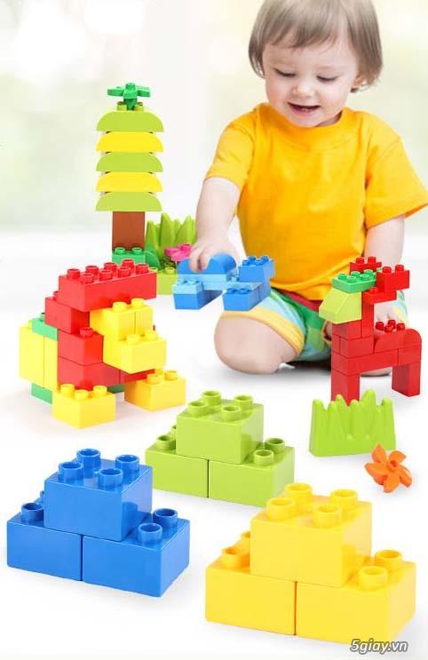Bộ block Lego lắp ráp nhà 140 chi tiết (size lớn) hàng nhập - 1