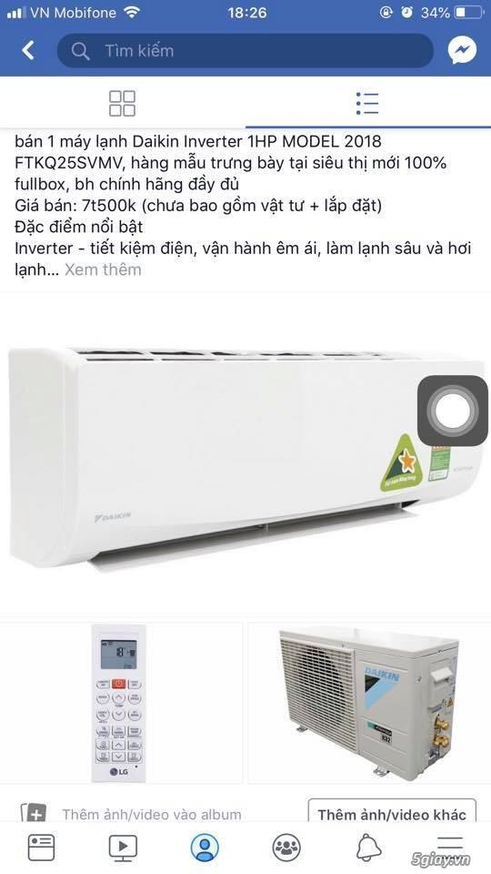 máy lạnh hàng trưng bày mẫu  2018 mới 100% - 2