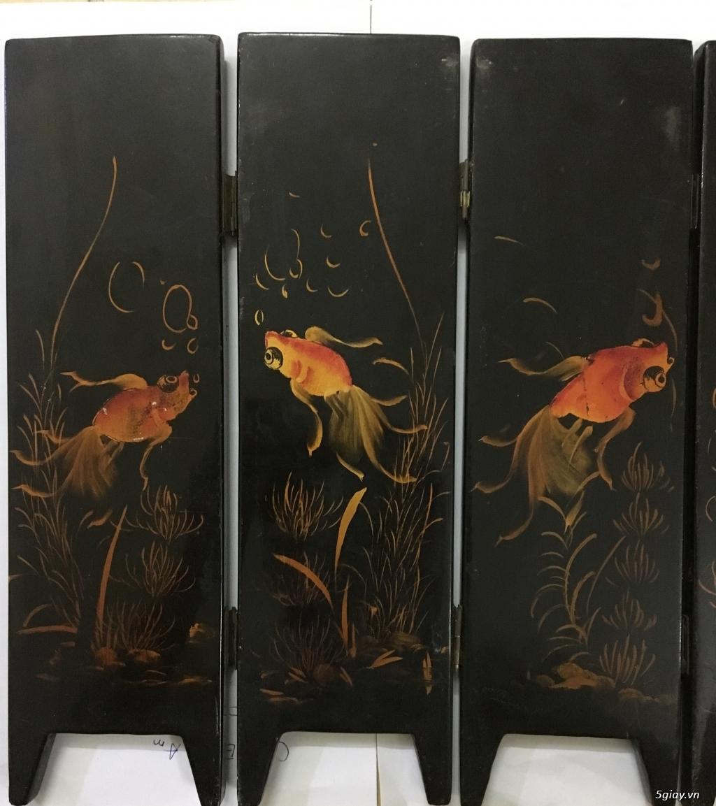 Cần bán tranh sơn mài khảm trai 6 bức bình phong cổ xưa - 4