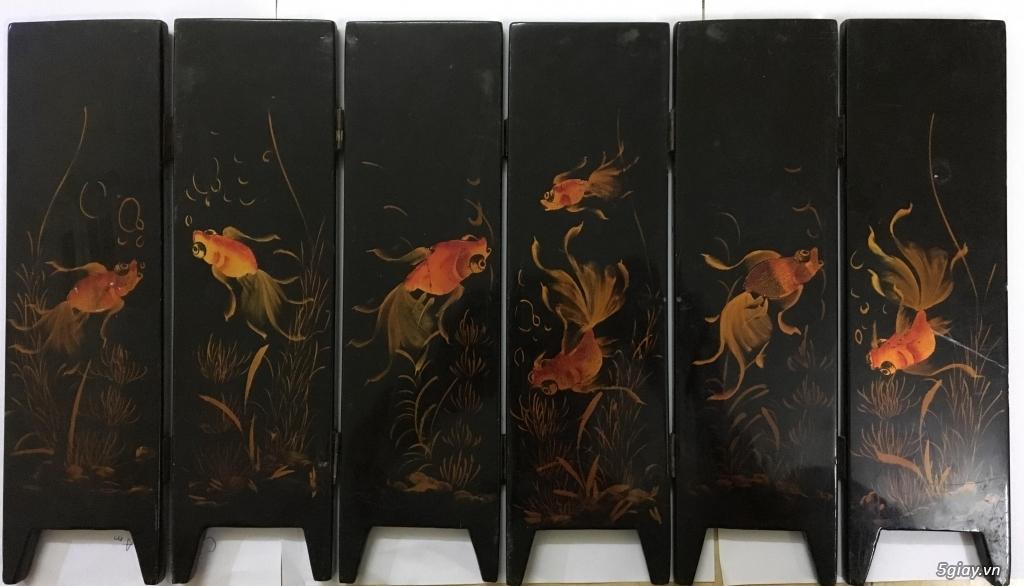 Cần bán tranh sơn mài khảm trai 6 bức bình phong cổ xưa - 3