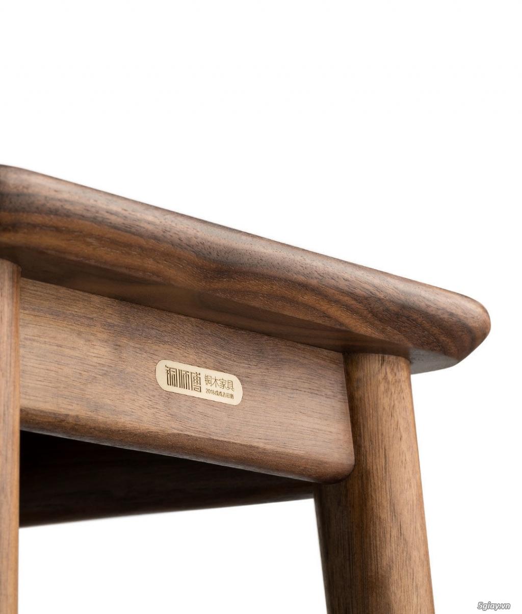 Bộ bàn học gỗ Óc Chó nhập khẩu - 6