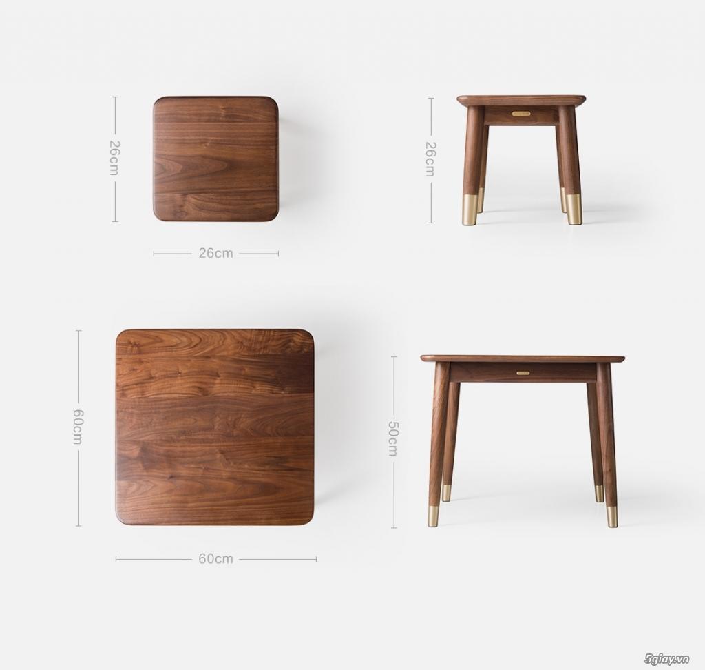 Bộ bàn học gỗ Óc Chó nhập khẩu - 5