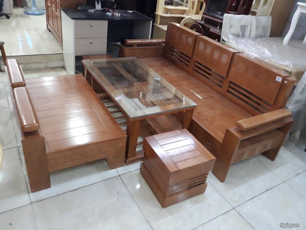 salon phòng khách gỗ sồi hộp tay 12 đẹp tuyệt vời thanh lý giảm 20%