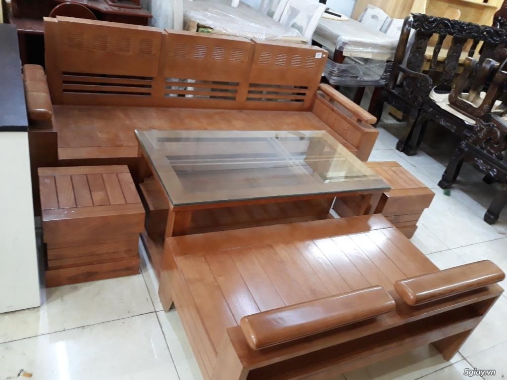 salon phòng khách gỗ sồi hộp tay 12 đẹp tuyệt vời thanh lý giảm 20% - 1