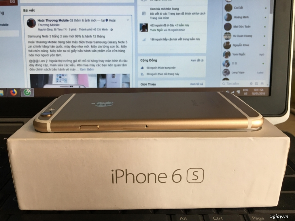 iphone 6s 64GB (Đen/Bạc/Hồng/Vàng) b.hành 12 tháng - 2