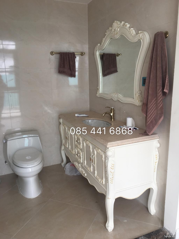 Bán tủ chậu lavabo tân cổ điển, hiện đại, tủ chậu mặt đá phòng tắm - 25