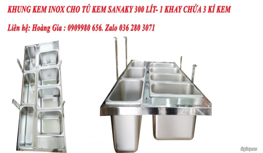 Khung kem  trưng bày dành cho tủ kem sanaky model 3099k