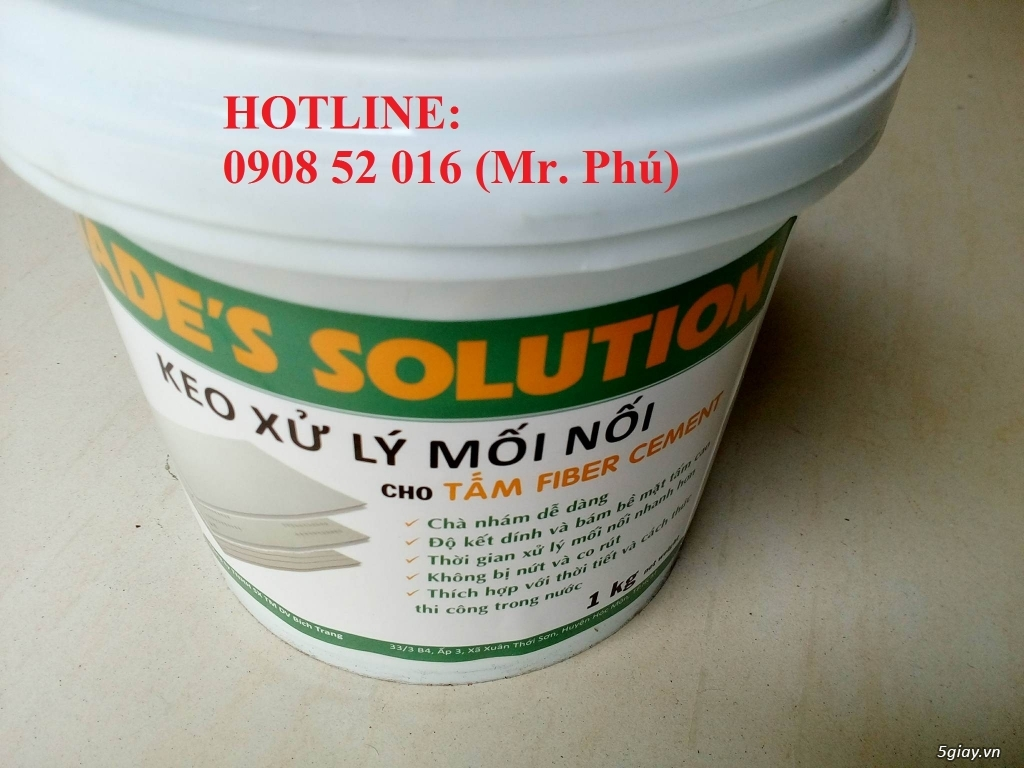 Keo Jade's Solution xử lý mối nối tấm xi măng cemboard giá rẻ
