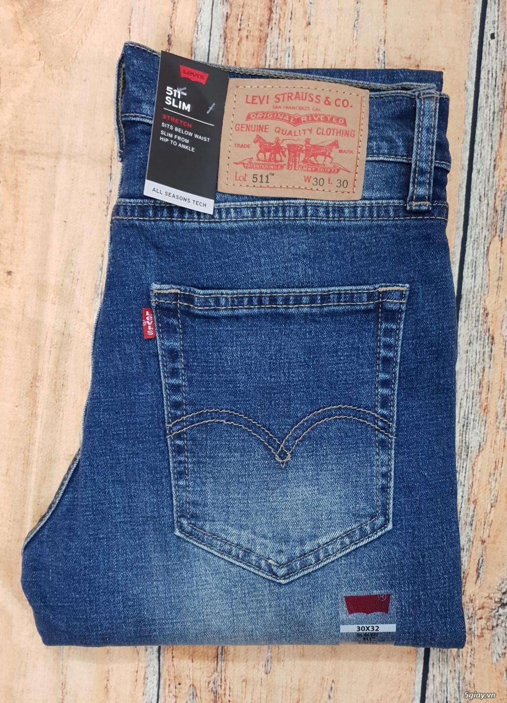 Chuyên bán quần jeans Nam Levi's 511 dáng xuông đủ màu đủ size - 13