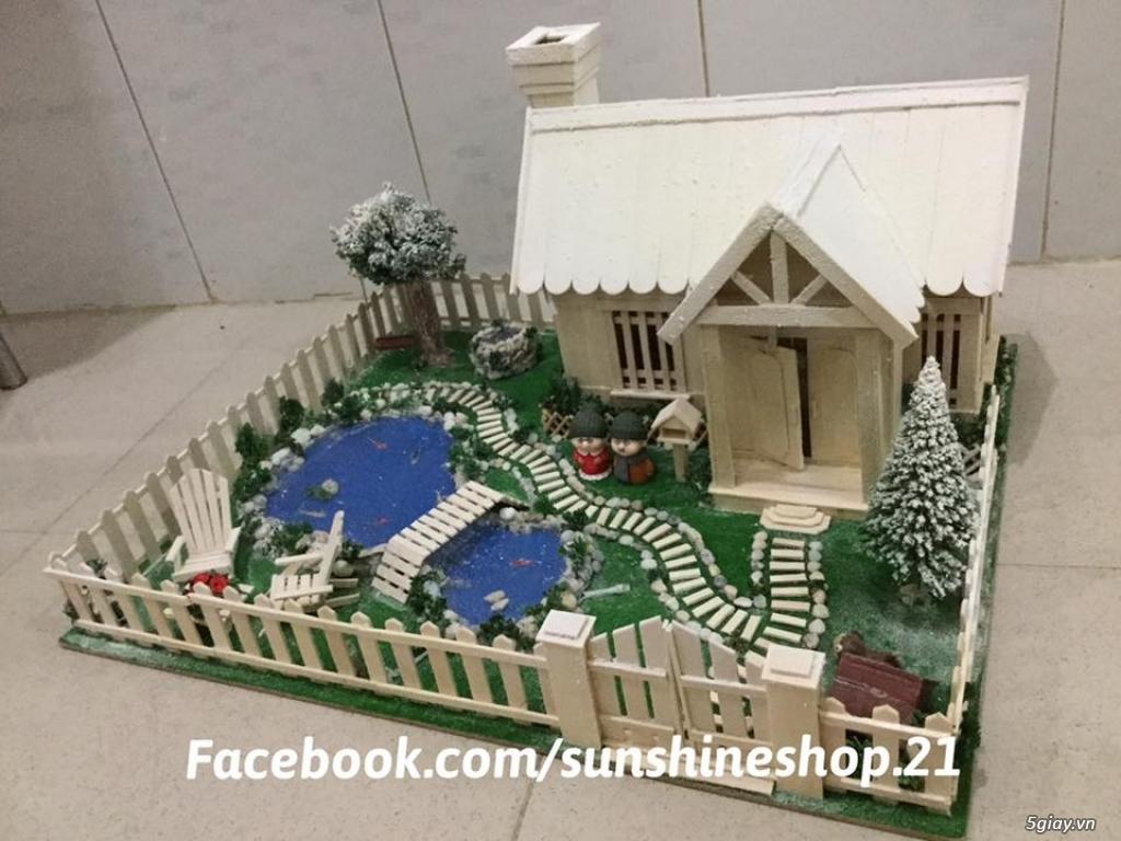 SunShineShop - Nhận đặt làm mô hình nhà que theo yêu cầu