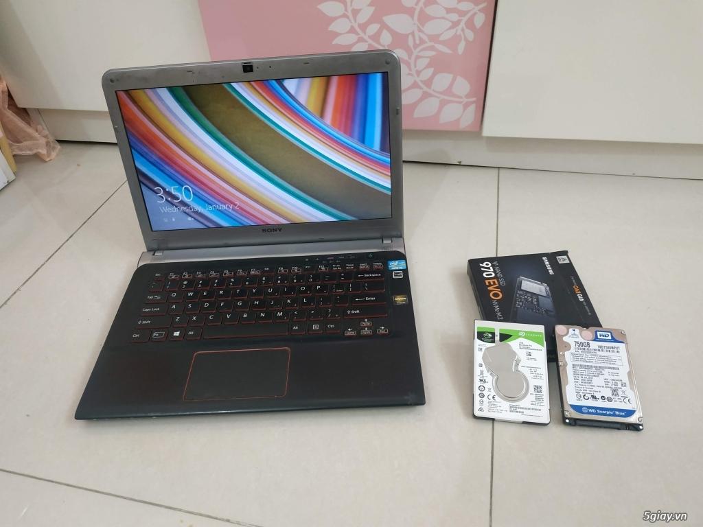 Cần bán Laptop Sony SVE14A25 i7 16GB Ram 256GB SSD VGA 2GB cực bốc