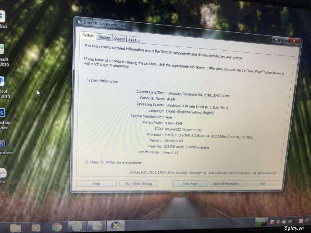 Acer 4349 core i3 chỉ 3 triệu cho sinh viên hoặc nhân viên văn phòng