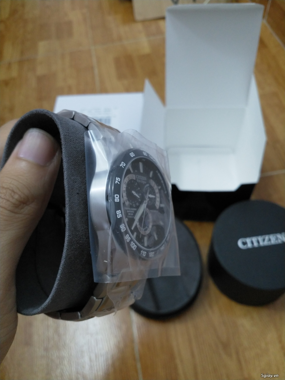 Đồng hồ Citizen Eco Drive Titanium AT4010-50E mới 100% nguyên seal - 2