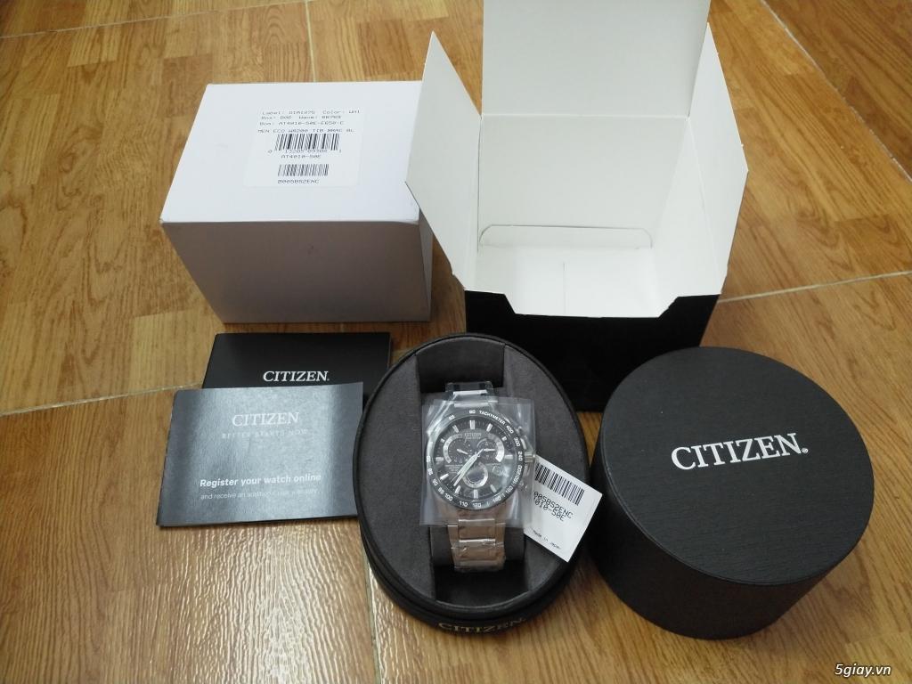 Đồng hồ Citizen Eco Drive Titanium AT4010-50E mới 100% nguyên seal