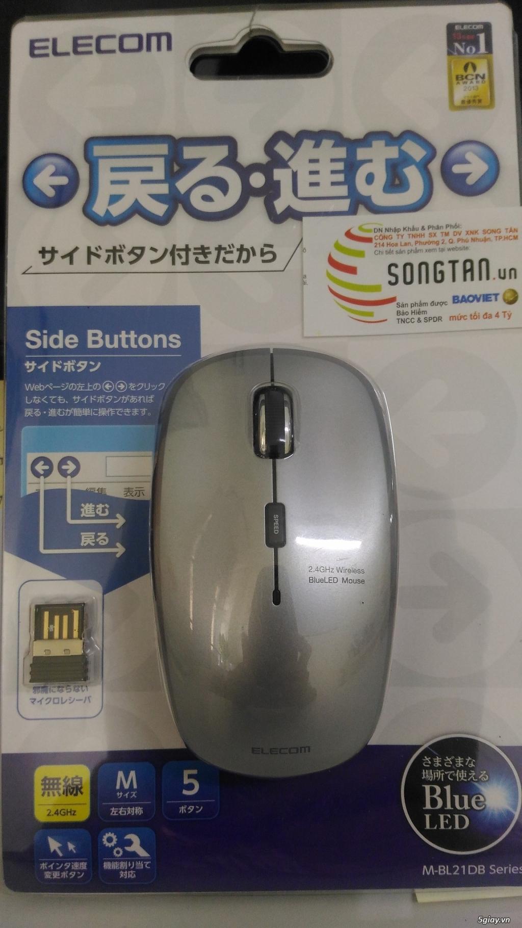 Chuột không dây Blue Led - thương hiệu nhật Elecom - 1