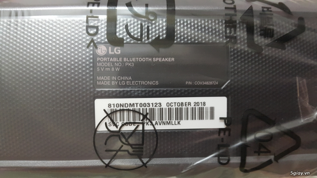 Loa Bluetooth LG PK3 chính hãng, mới 100% End: 23h 06/06/19 - 10