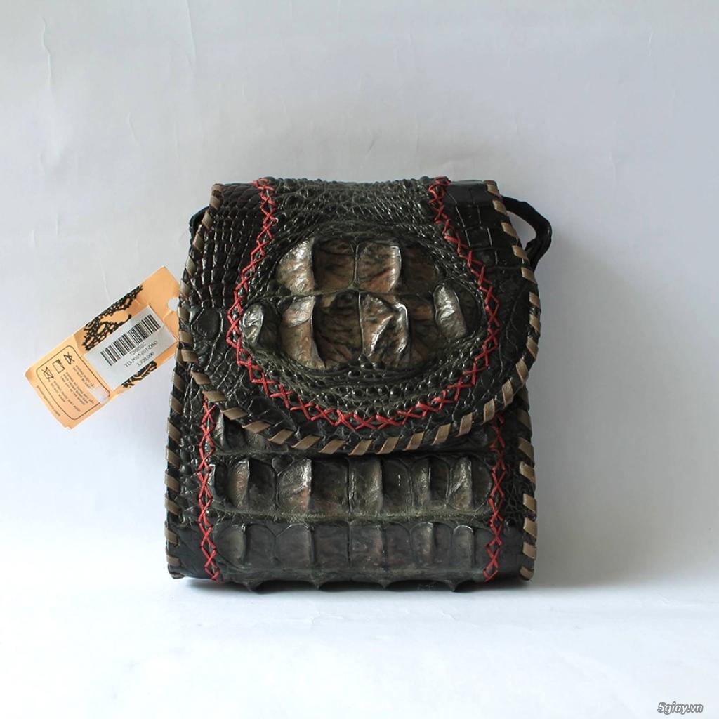 Thanh lý túi xách da đà điểu, da bò, da trăn, da cá sấu thật 100% - 22