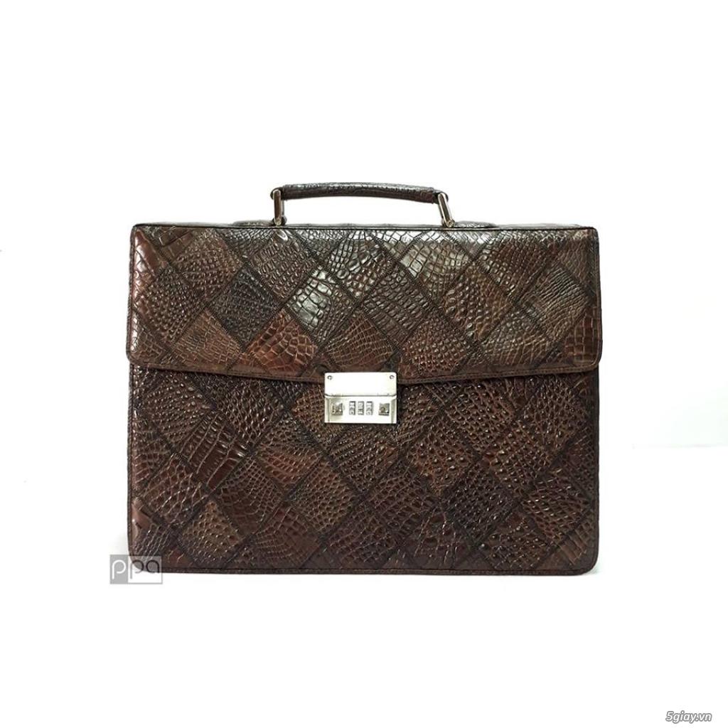 Thanh lý túi xách da đà điểu, da bò, da trăn, da cá sấu thật 100% - 19